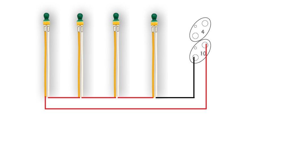 Serie e parallelo di accenditori pirotecnici